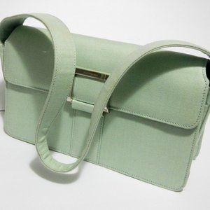 Yves Saint Laurent Vintage Linen Handbag w/Flap